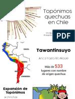 Topónimos quechuas en Chile