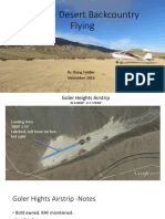 Mojave Desert Backcountry Airstrips