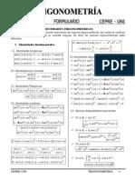 Formulario de Trigonometria 2015 - I