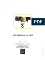 Rm Spacemaster Sx Wire Rope Hoist Service Manual