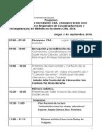 Programa Jornada CRA - 2018