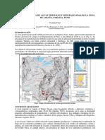 Hidrogeoquímica de Aguas Termales