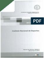 Informe de Seguimiento 990-15 Instituto Nacional de Deportes - Auditoría a Las Transferencias Efectuadas a Federaciones - Mayo 2016