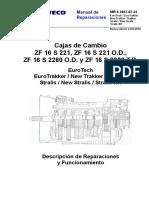 MR 04 Tech Trakker Stralis Cajas Cambio ZF16S O.d-t.D.- Espanhol