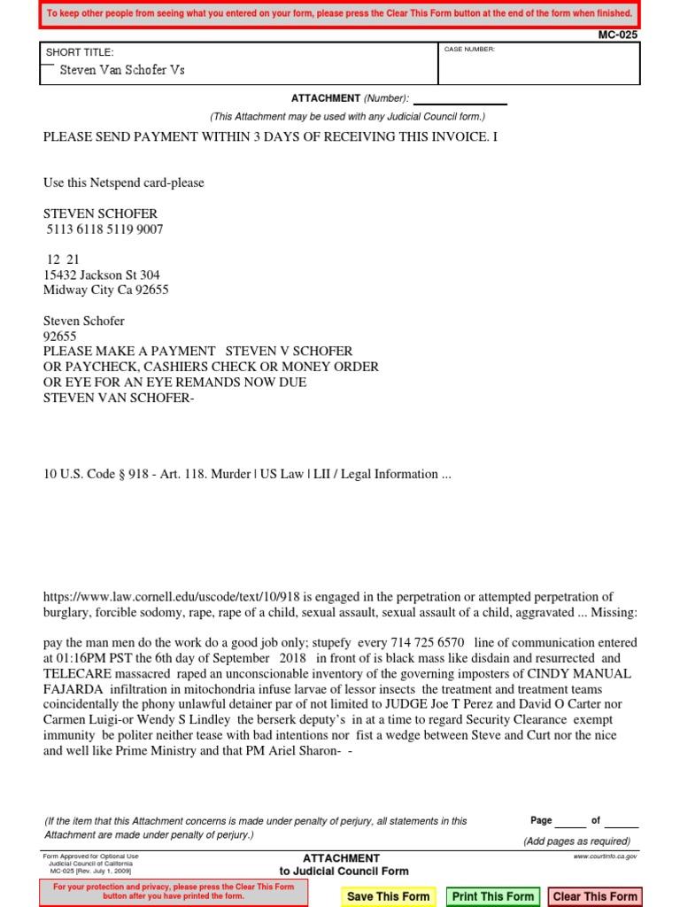 Mc025 (2) Steven Van Arroyo DBA Steven Van Schofer   Rape   Common Law