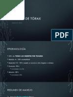 Trauma de Tórax