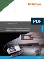 Mitutoyo - Chropowatościomierz Surftest SJ-210 - PRE1344(3) - 2017 EN