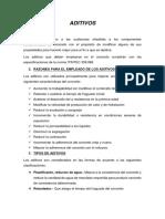 Aditivos Construccion II