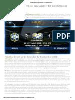 Prediksi Brazil vs El Salvador 12 September 2018
