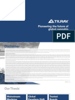 TLRY Tilray Sept 2018 Investor Presentation Slide Deck