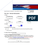 Electronic Diversity Visa Entry Form