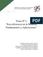 Tarea 1 Ecoficiencia en La Mineria Gonzalo Salazar