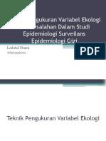 Teknik Pengukuran Variabel Ekologi Dan Kesalahan Dalam Studi