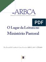 Donald R. Lindblad - O Lugar Da Leitura No Ministério Pastoral (ARBCA)