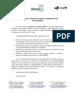 Inscrições - Comissão Organizadora Semebio 2019