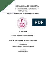 3° informe de minería y medio ambiente