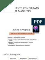 Tratamiento Con Sulfato de Magnesio