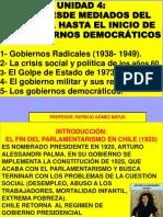 CHILE 2° MITAD SIGLO XX