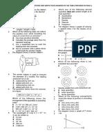 F4Physics Test1(2016)