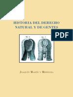 Historia Del Derecho Natural y de Gentes