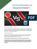 Prediksi Bola Menang Pasti Colombia vs Argentina