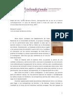 Mapa de Voz Silvia Adriana Davini Cartografias de La Voz en El Teatro Contemporaneo El Caso de Buenos Aires a Fines Del Siglo Xx Bernal Universidad Nacional de Quilmes 2007