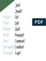 WH Questions. EN-FR