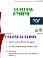 Industrial Hygiene and Industrial Control Measures
