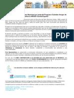 Propuesta de moción al Pleno Municipal por parte del Programa Ciudades Amigas de la Infancia UNICEF-Comité Español *