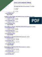 2010 Formula 1 Schedule(Indian Timing)
