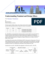 Understanding Nominal and Design Mixes