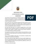 Resolución No. 08-2018 Emitida Por El Pleno de La CNJ