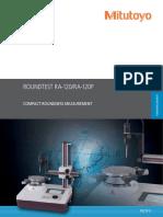Mitutoyo - Przyrząd do pomiaru kształtów Roundtest RA-120, RA-120P - PRE1411(2) - 2017 EN