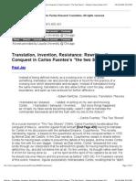 Translation, Invention Resistance