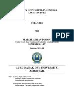 m Architecture Urban Design Semester i to IV Cbcegs