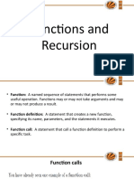 Function and Recursion of python