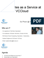 Kubernetes as a Service at VCCloud