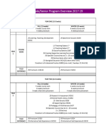 Program Overview is 2017 19