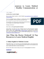14 Top Resources to Learn Medical English for Healthy Communication at Work