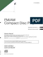 SONY CDX-GT45UW Manual