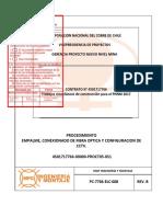 PC-7766-ELC-008 Empalme y Conexionado Fibra Óptica-Config CCTV Rev-B ST2...