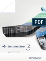 Studio One 3 Quick Start Guide