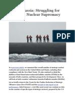 U.S. vs Russia Struggling for Undersea Nuclear Supremacy