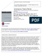 Political and Protest Theatre After 9-11 - Patriotic Dissent Edited by Jenny Spencer