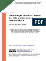 Beltran, Maria Antonieta (2010). Criminologia feminista. Estado del arte y presencia en Latinoamerica.pdf