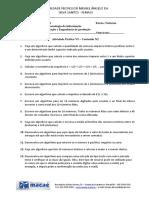 Atividade 6 - Pseudocódigo - Visual G