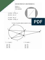 Auotoevaluación Circulo y Circuonferencia