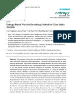 Sang YF 2009 - Entropy-Based Wavelet de-noising Method for Time Series Analysis