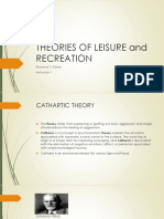 Theories of Leisure and Recreation