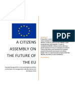 Proposal to DIEM25 for a Citizens Assembly on the future of the European Union